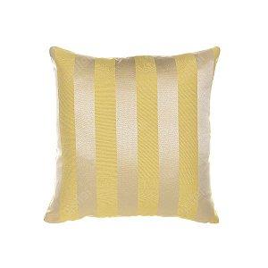 Capa para Almofada em Tecido Jacquard Amarelo Listrado