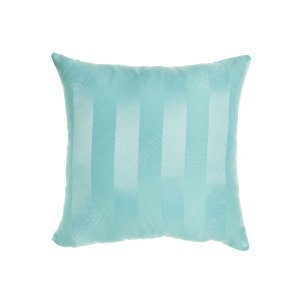 Capa para Almofada em Tecido Jacquard Azul Tiffany Listrado
