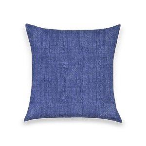 Capa para Almofada em Tecido Jacquard Estampado Liso Azul Marinho