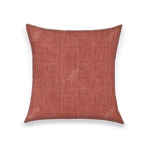 Capa para Almofada em Tecido Jacquard Estampado Liso Vermelho Alaranjado
