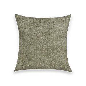 Capa para Almofada em Tecido Suede Amassado Bege Marfim