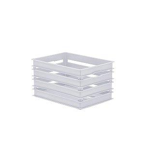 Organizador Caixote Alto Branco Médio