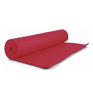 Tapete para Ginástica Yoga em PVC Vermelho - 1,60m x 61cm