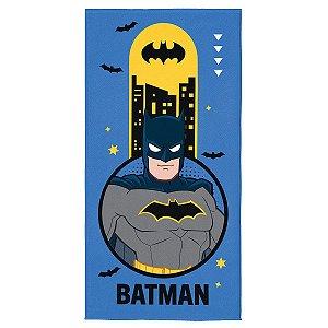 Toalha Aveludada Estampada Batman - 70cm x 1,40m