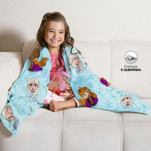 Manta Fleece de Sofá Estampada Frozen – 1,25m x 1,50m