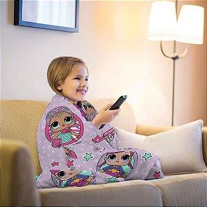 Manta Fleece de Sofá Estampada LOL – 1,25m x 1,50m