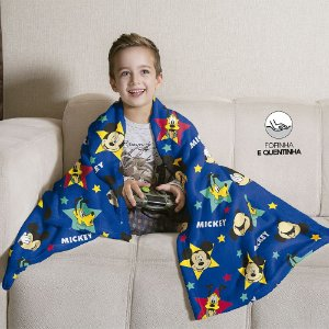 Manta Fleece de Sofá Estampada Mickey – 1,25m x 1,50m