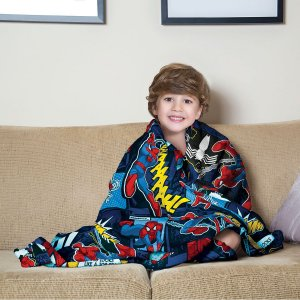 Manta Fleece de Sofá Estampada Spider-Man – 1,25m x 1,50m