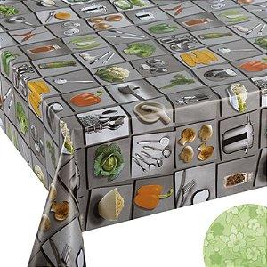 Tecido Plástico Térmico Estampado Cozinha - 1,4m Largura
