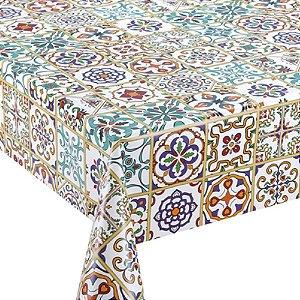 Tecido Plástico Térmico Estampado Azulejo Português - 1,4m Largura