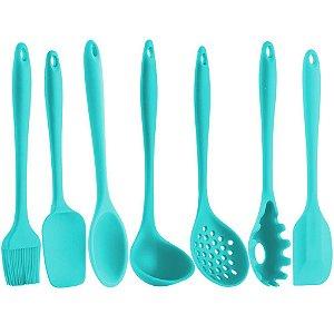 Kit Utensílios De Cozinha Silicone Tiffany 7 Peças