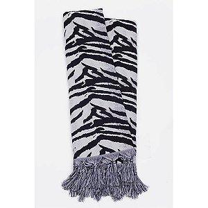 Manta Rústica para Sofá Zebra Preto e Branco
