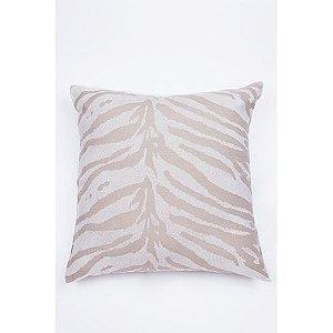 Capa De Almofada Para Sofá Zebra Bege e Branco