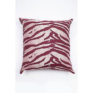 Capa De Almofada Para Sofá Zebra Vinho