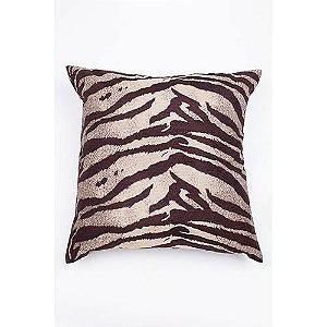 Capa De Almofada Para Sofá Zebra Marrom e Bege