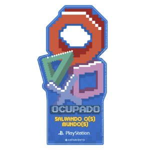 Aviso De Porta Playstation Pixel
