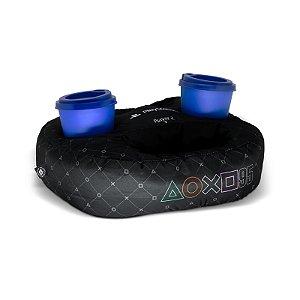 Almofada Porta Controle E Copo Simbolos Playstation