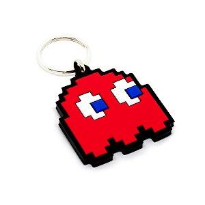 Chaveiro Emborrachado Fantasma Vermelho - Pac Man