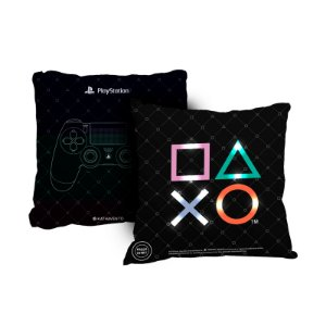 Almofada 38X38 Com Led Playstation