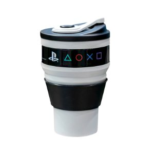 Copo Retratil Cinza 400Ml Playstation