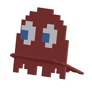 Porta Celular Fantasma Vermelho Pac-Man
