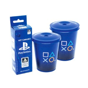 Copo Mini Fun 350Ml Com Canudo Playstation