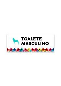 Placa Toalete Masculino
