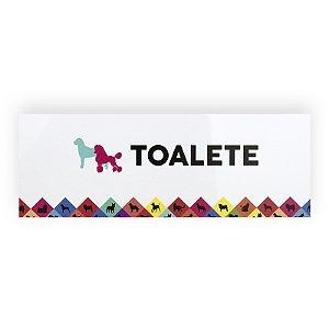 Placa Toalete