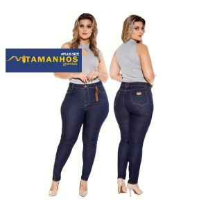 Calça Jeans Plus Curve Size Skinny Basic Ref: 5097