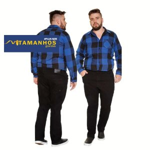 Calça Masculina Jeans Plus Curve Size Preta Ref: 10802