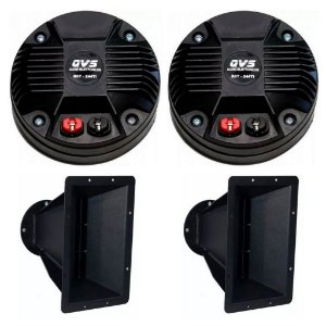 Kit 2 Drivers 244TI  QVS + 2 Guias de Onda 8 Polegadas QVS