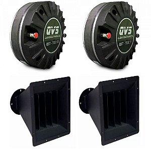 KIt 2 drivers 7250TI QVS + 2 Guias de ondas 10'' QVS
