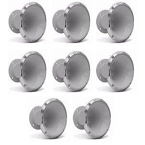 Mega Kit com 8 Cornetas Profissional Em Aluminio Qvs Audio Qvs -1450B Branca