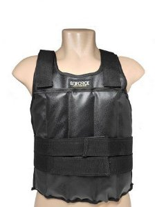 Colete Ajustável com Peso 20 Kg Preto Tamanho Único - Enforce Fitness
