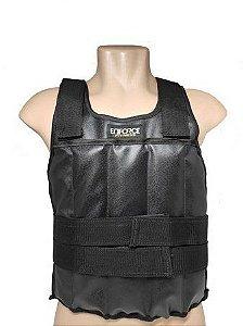 Colete Ajustável com Peso 10 Kg Preto Tamanho Único - Enforce Fitness