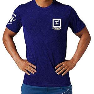 Camiseta de Treino/Academia/Crossfit/Funcional Azul Escuro Tam M - Enforce Fitness