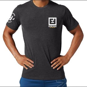 Camiseta de Treino/Academia/Crossfit/Funcional Cinza Escuro Tam P - Enforce Fitness