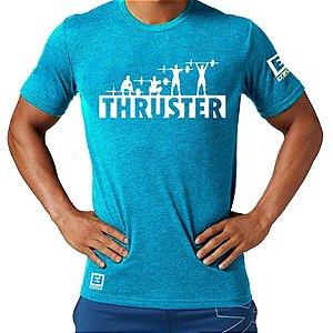 Camiseta Thruster para Treino/Academia/Crossfit/Funcional Azul Claro Tam G - Enforce Fitness