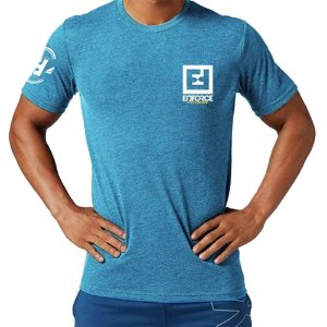 Camiseta Exercícios para Treino/Academia/Crossfit/Funcional Azul Claro Tam G - Enforce Fitness