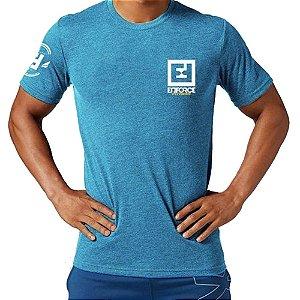Camiseta Exercícios para Treino/Academia/Crossfit/Funcional Azul Claro Tam GG - Enforce Fitness