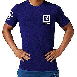 Camiseta Exercícios para Treino/Academia/Crossfit/Funcional Azul Escuro Tam GG - Enforce Fitness