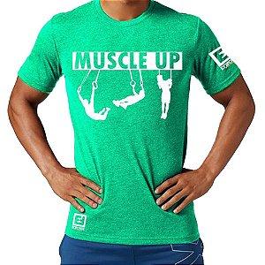Camiseta Muscle Up para Treino/Academia/Crossfit/Funcional Verde Claro Tam M - Enforce Fitness