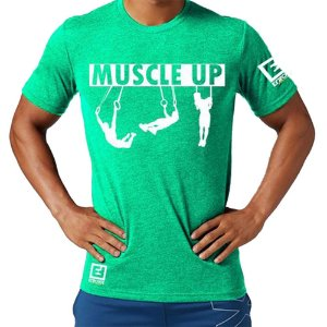 Camiseta Muscle Up para Treino/Academia/Crossfit/Funcional Verde Claro Tam P - Enforce Fitness