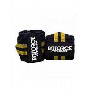 Munhequeira Profissional Crossfit Powerlifting Amarela - Enforce Fitness