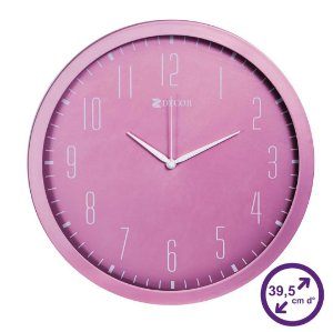 Relógio de Parede Rosa Penelope Metal 39,5 cm
