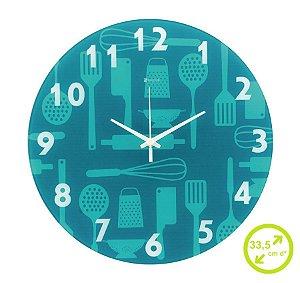 Relógio de parede cozinha 33,5 cm