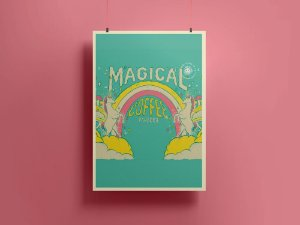 Poster/Quadro Magical Coffee