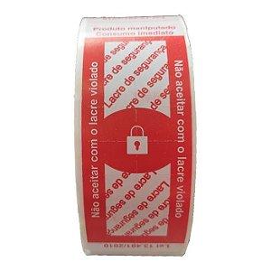 Etiqueta Lacre para Embalagens Delivery Vermelho - 500 unidades