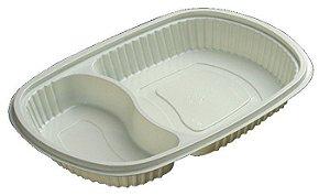 Marmitex Freezer e Micro-ondas com 2 Divisórias PP 22 - Starpack