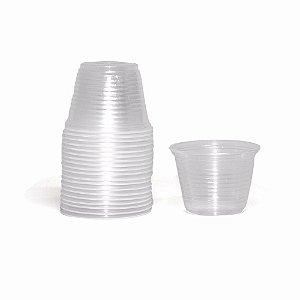 Pote Plástico Descartável Translúcido 100 ml - Cristalcopo